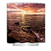 Inspiration Key Shower Curtain by Chad Dutson