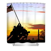 Inspiration Shower Curtain by Mitch Cat
