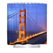 The Golden Gate Bridge Shower Curtain