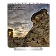 Inspirational Hoodoo Badlands Alberta Canada Shower Curtain