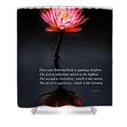 Inspirational - Reflection - Confucius Shower Curtain by Mike Savad