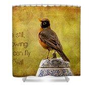 Inspirational Robin Shower Curtain