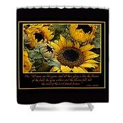 Inspirational Sunflowers Shower Curtain