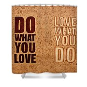 Inspiring Quote Original Coffee Painting Shower Curtain