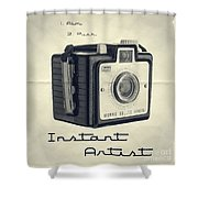 Instant Artist Shower Curtain by Edward Fielding