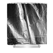 Insult To Injury 2 Bw Shower Curtain