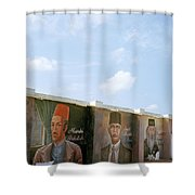 Intellectuals Shower Curtain by Shaun Higson