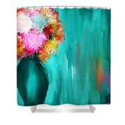 Intense Eloquence Shower Curtain by Lourry Legarde