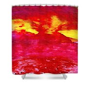 Interactions 4 Shower Curtain by Amy Vangsgard