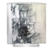 Interchange Between Ambition And Restraint 1 Shower Curtain