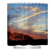 Interesting Sunset Shower Curtain
