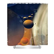 Intergalactic Space Shower Curtain by Kaye Menner