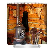 Interior Cabin At Old Trail Town Shower Curtain