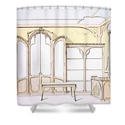 Interior Design For A Fashion Shop Shower Curtain