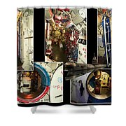 Interior Hatches Collage Russian Submarine Shower Curtain