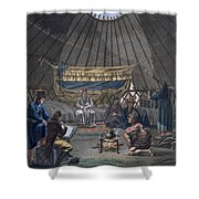 Interior Of A Kalmuk Yurt, 1812-13 Shower Curtain
