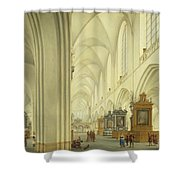 Interior Of Antwerp Cathedral, C.1668 Shower Curtain