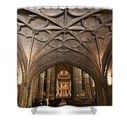 Interior Of Jeronimos Monastery Church In Lisbon Shower Curtain