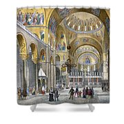 Interior Of San Marco Basilica, Looking Shower Curtain