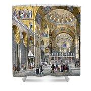 Interior Of San Marco Basilica, Looking Shower Curtain by Italian School