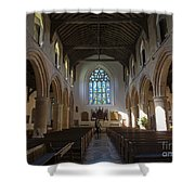Interior Of St Mary's Church In Rye Shower Curtain