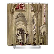 Interior Of The Cathedral Of St. Etienne, Sens Shower Curtain