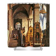 Interior Of The Dominican Church In Krakow Shower Curtain