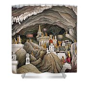 Interior Of The Grotto Of Nam Hou Shower Curtain