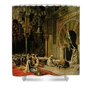 Interior Of The Mosque At Cordoba Shower Curtain