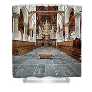 Interior Of The Oude Kerk In Amsterdam Shower Curtain