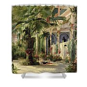 Interior Of The Palm House At Potsdam Shower Curtain