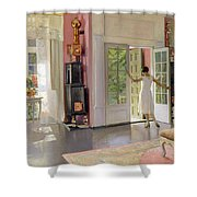 Interior Oil On Canvas Shower Curtain