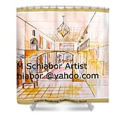 Interior Perspective Shower Curtain