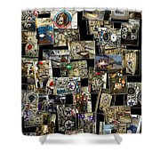 Interior Russian Submarine Vert Collage Shower Curtain