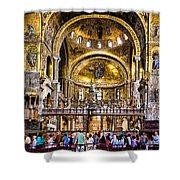 Interior St Marks Basilica Venice Shower Curtain