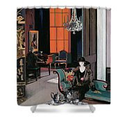 Interior - The Orange Blind, C.1928 Shower Curtain