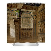 Interior View Of The West Temple Shower Curtain by Le Pere