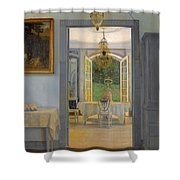 Interior With Afternoon Sun Shower Curtain