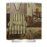 Interior With Chair Shower Curtain