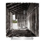 Interiors In Black And White Shower Curtain