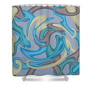 Interlock 2 Shower Curtain