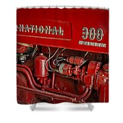 International 300 Utility Harvester Shower Curtain by Susan Candelario
