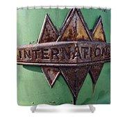 International Harvester Insignia Shower Curtain