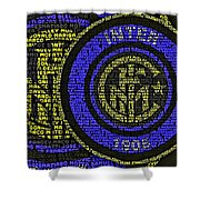 Internazionale Typography Poster Shower Curtain