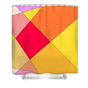 Intersection Two Shower Curtain