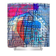 Interstate 10- Exit 255- Miracle Mile Overpass- Rectangle Remix Shower Curtain