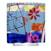Interstate 10- Exit 256- Grant Rd Underpass- Rectangle Remix Shower Curtain