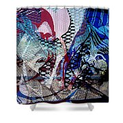 Interstate 10- Exit 261- 6th Ave Overpass- Rectangle Remix Shower Curtain