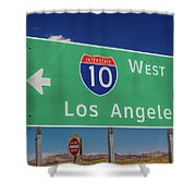 Interstate 10 Highway Signs Shower Curtain