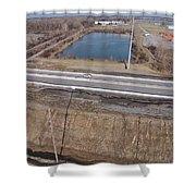 Interstate 75 Construction Ohio Aerial Shower Curtain